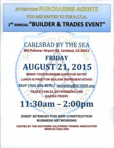 Builder & Trade Event - August 21, 2015
